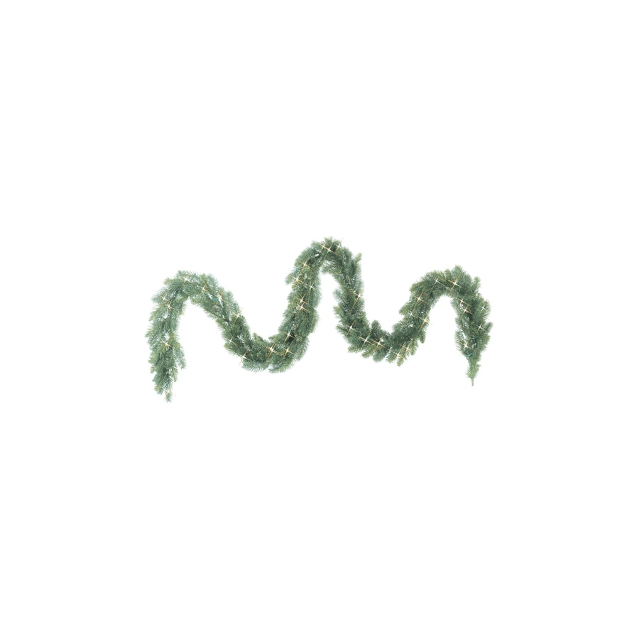 GE 9-ft Indoor/Outdoor Spruce Artificial Garland with Clear Lights