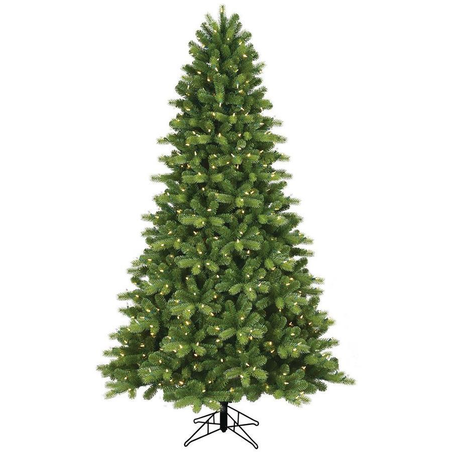 GE 12.12 ft Colorado Spruce Pre Lit Traditional Artificial Christmas Tree  with 1200 Color Changing Color Changing LED Lights