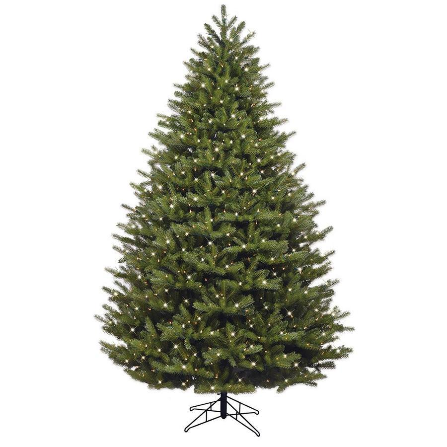 Ge 7 5 Ft Oakmont Spruce Pre Lit Traditional Artificial Christmas Tree With 600 Multi Function Color Changing Warm White Led Lights In The Artificial Christmas Trees Department At Lowes Com