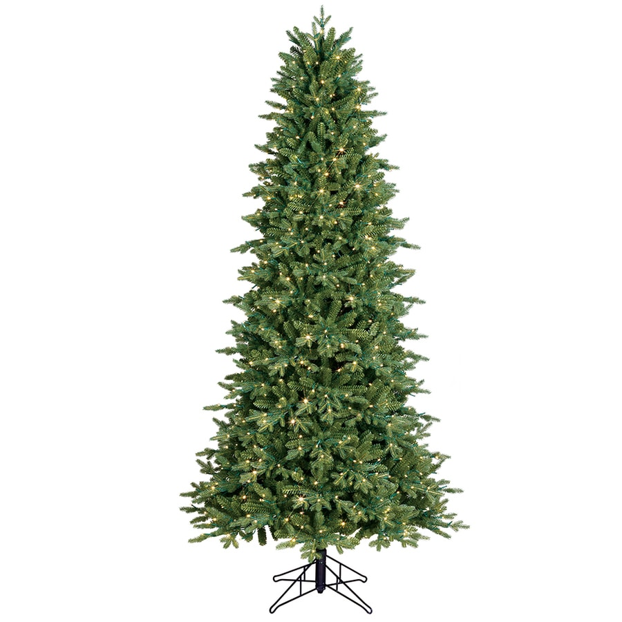 Ge 7 5 Ft Aspen Fir Pre Lit Traditional Slim Artificial Christmas Tree With 700 Multi Function Color Changing Led Lights In The Artificial Christmas Trees Department At Lowes Com