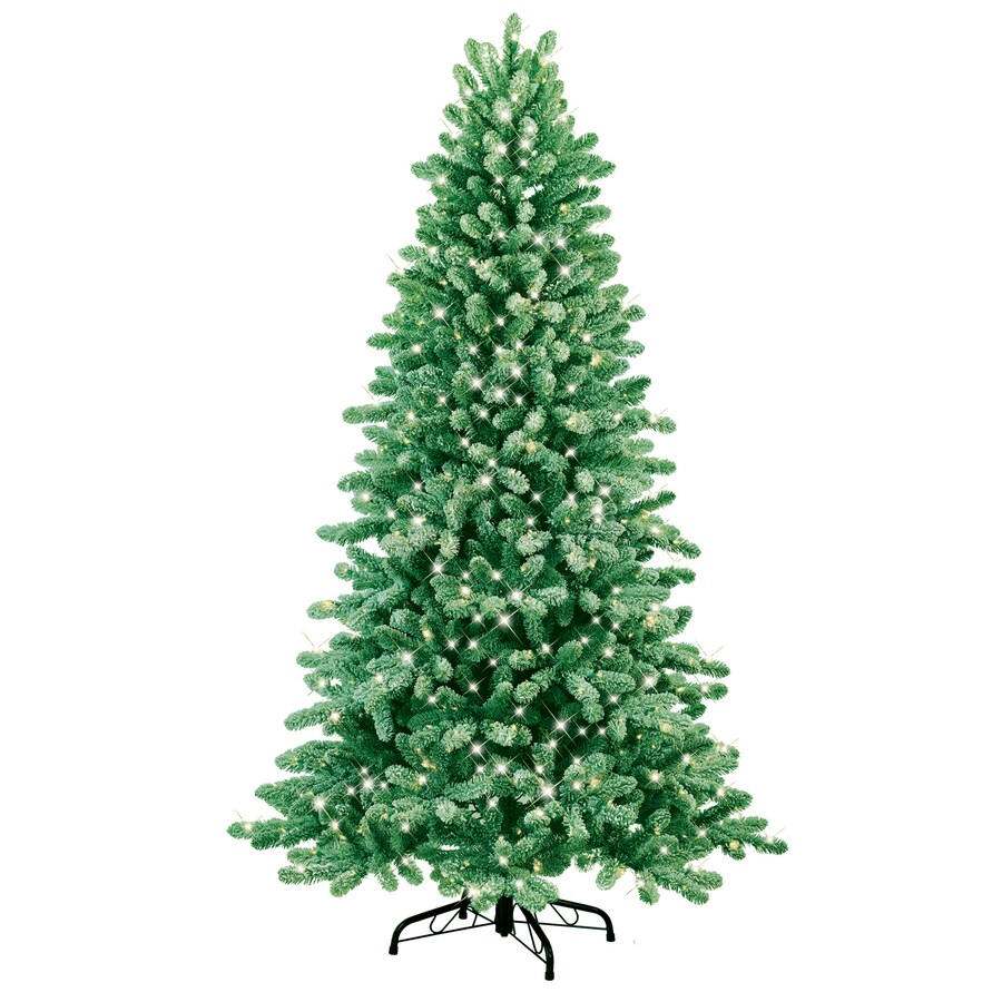GE 7-ft Fir Pre-lit Artificial Christmas Tree with 500-Count Clear Lights