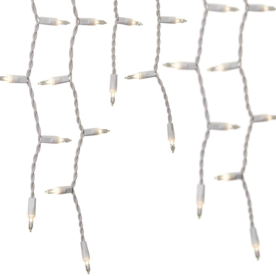 GE String-A-Long 300-Count Constant White Mini Incandescent Plug-in Christmas Icicle Lights