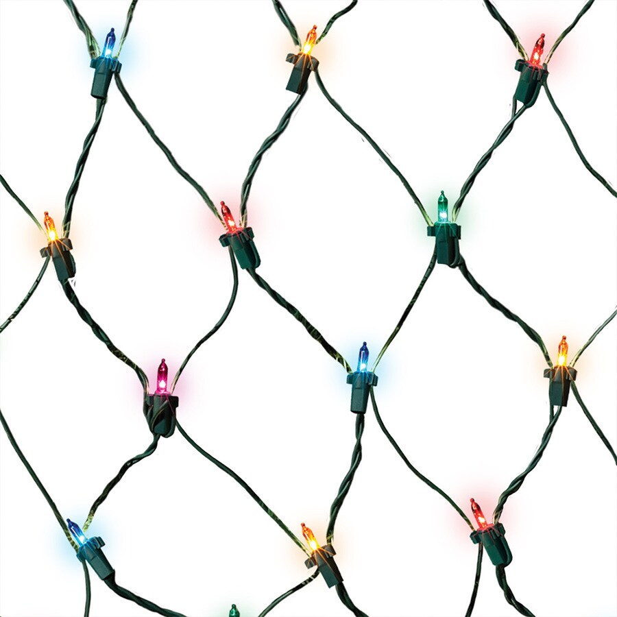 GE 150-Count Mini Multicolor Christmas Net String Lights