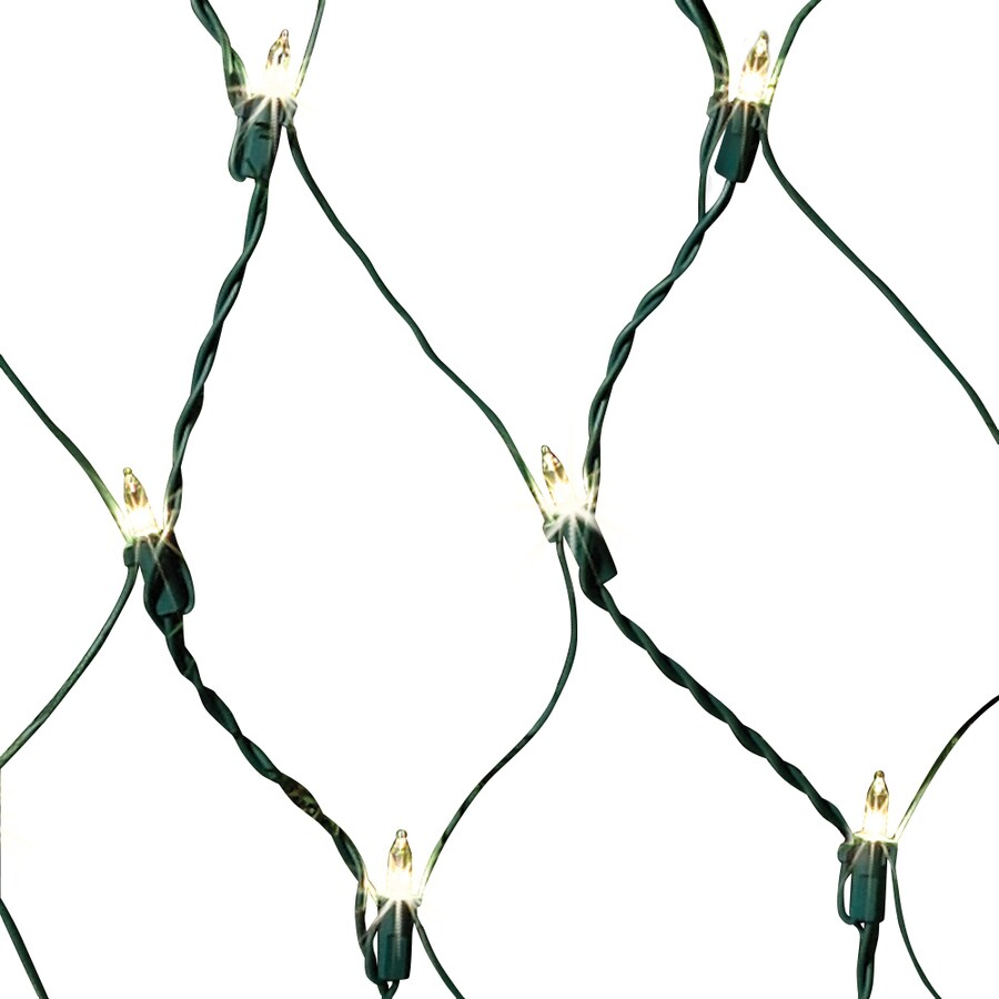 GE Random Sparkle 6-ft x 4-ft Indoor/Outdoor Sparkling White Incandescent Mini Plug-in Christmas Net Light