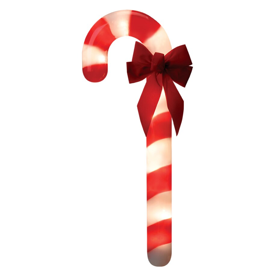 GenTite 3-Marker White Incandescent Plug-in Candy Cane Christmas Pathway Markers