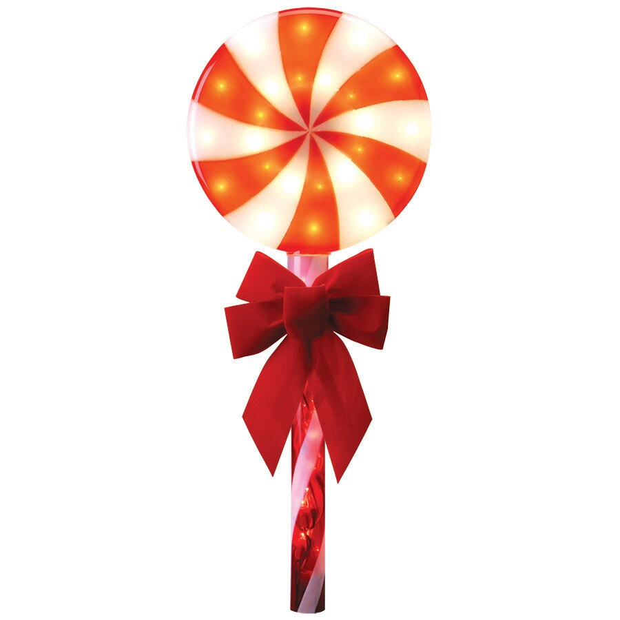 GE 3-Marker White Incandescent Plug-in Lollipop Christmas Pathway Markers