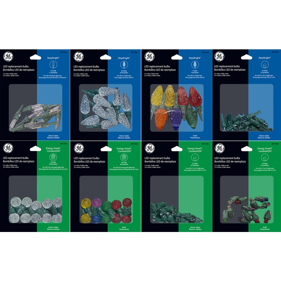 GE Assorted Indoor/Outdoor LED String Light Bulbs