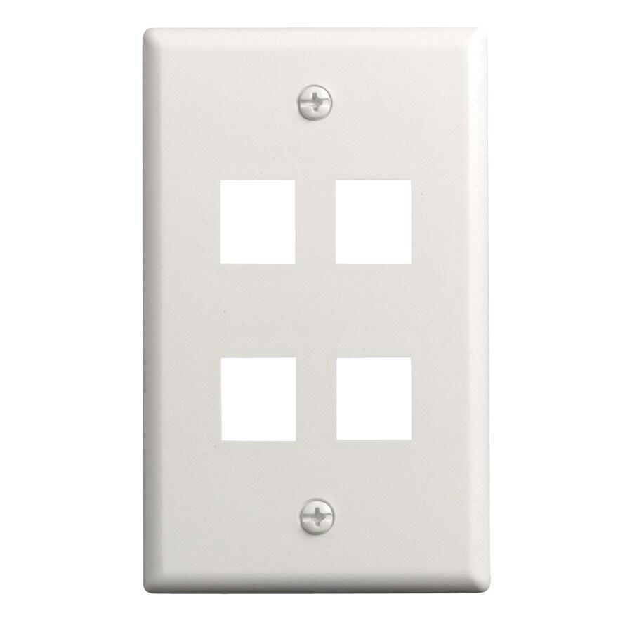 On-Q/Legrand Keystone 1-Gang Light Almond Blank Wall Plate