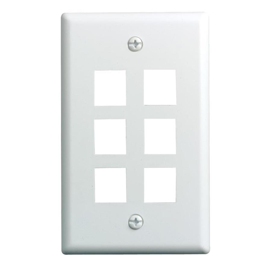 On-Q/Legrand Keystone 1-Gang White Blank Wall Plate