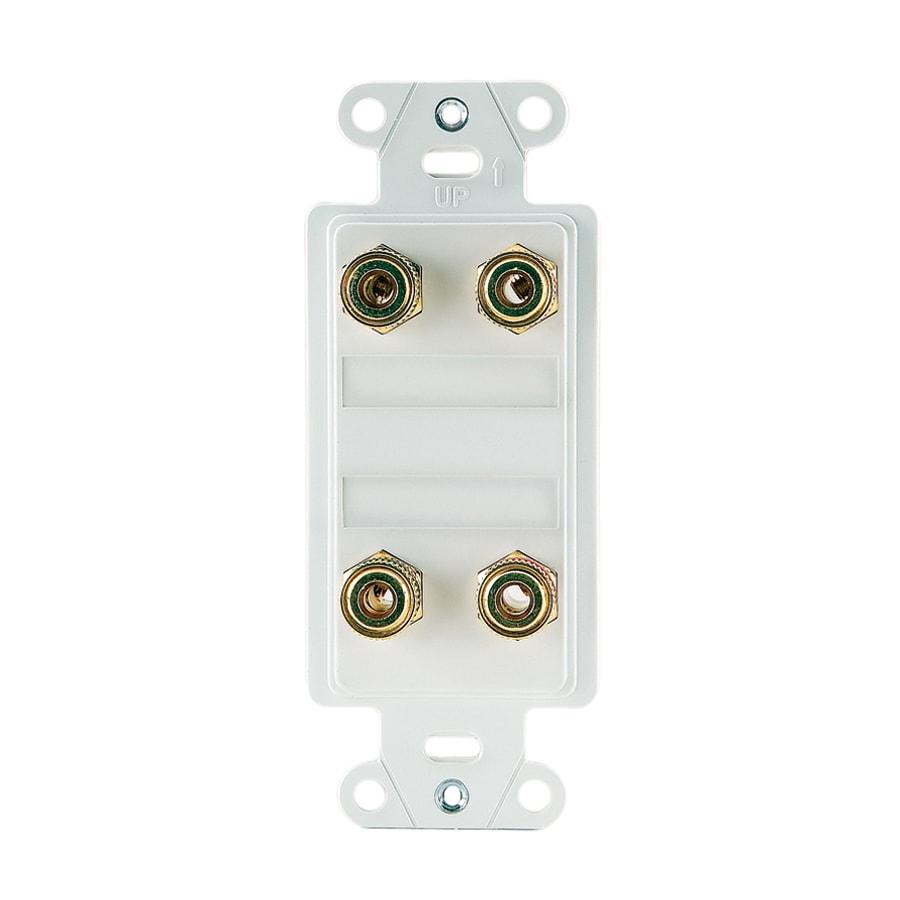 On-Q/Legrand Nickel Binding Post Audio Connector