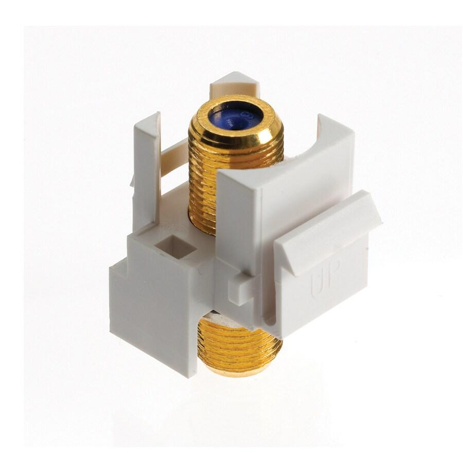 On-Q/Legrand Plastic F-Connector Wall Jack