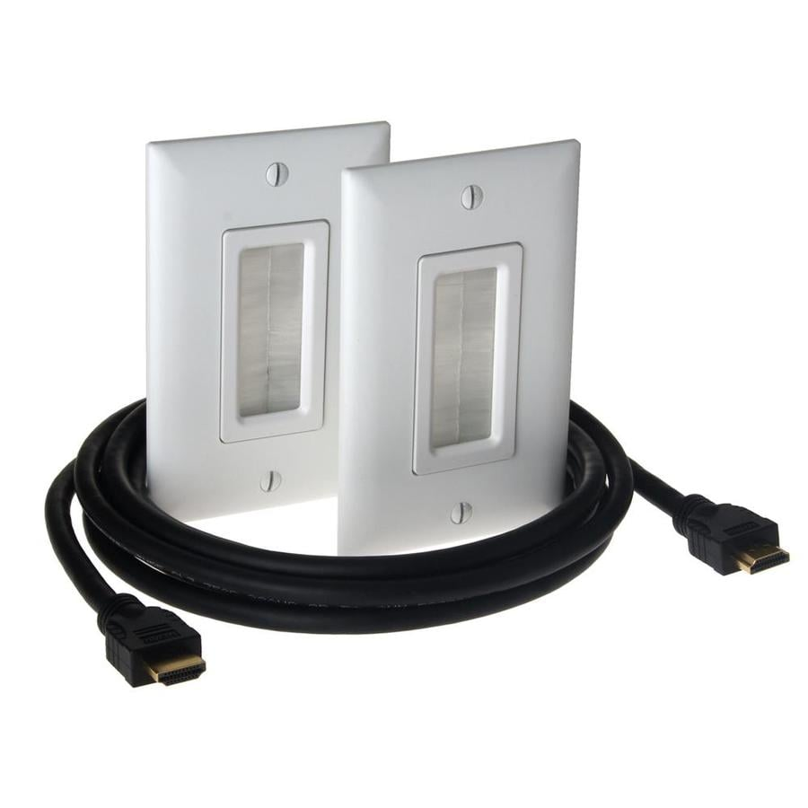 On-Q/Legrand 1-Gang White Wall Plate