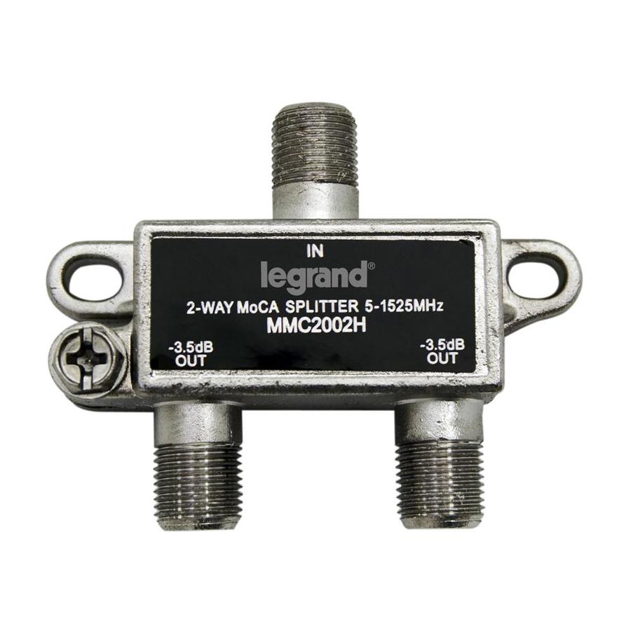 On-Q/Legrand Zinc 2-Way Coax Video Cable Splitter