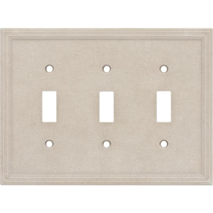 Somerset Collection 3-Gang Sand Toggle Wall Plate