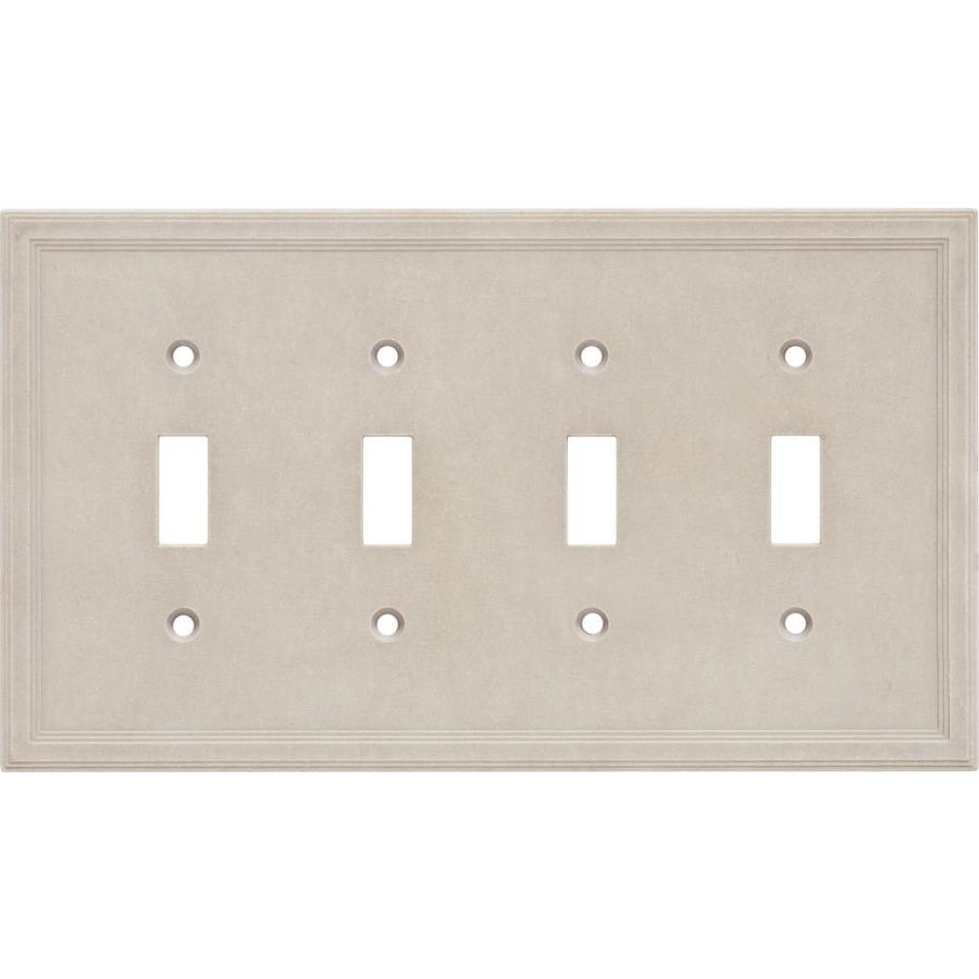Somerset Collection 4-Gang Sand Toggle Wall Plate