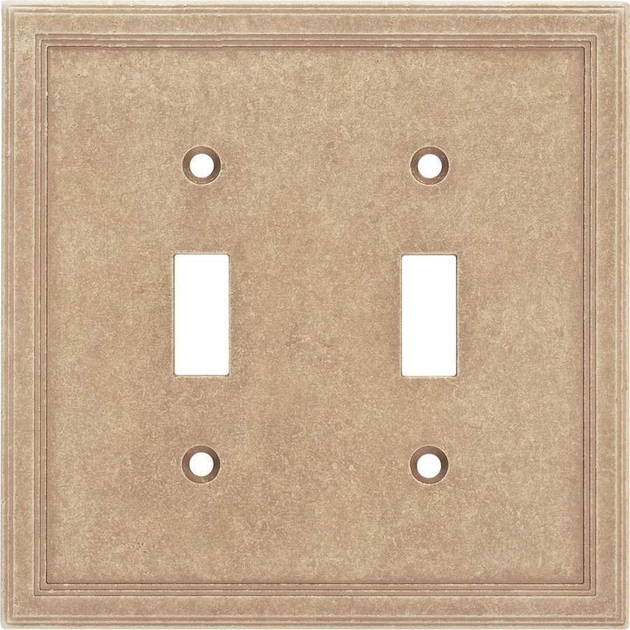 Somerset Collection 2-Gang Sienna Toggle Wall Plate