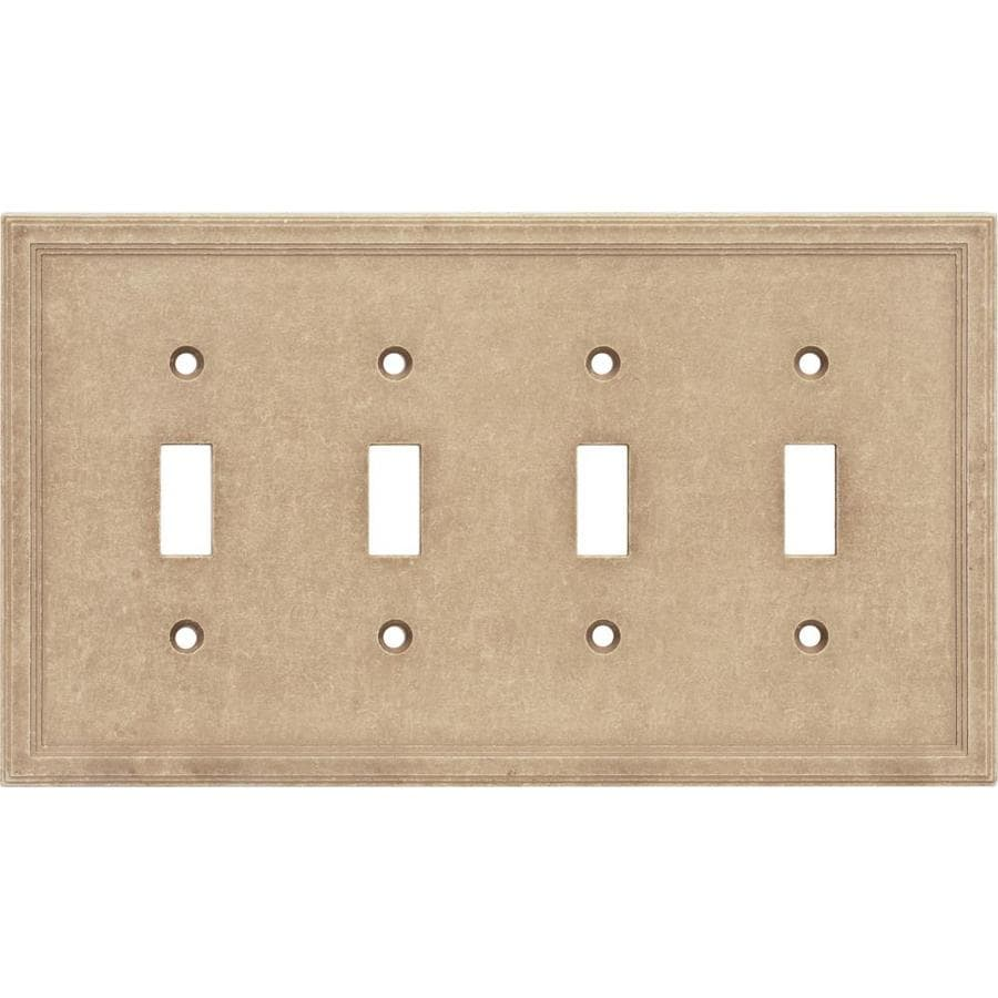 Somerset Collection 4-Gang Sienna Toggle Wall Plate
