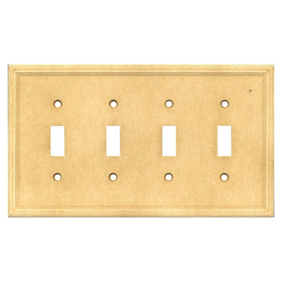 Somerset Collection 4-Gang Sahara Toggle Wall Plate