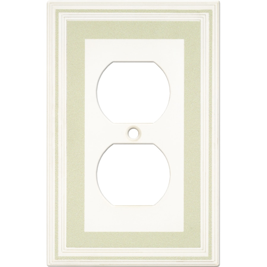 Somerset Collection Color Signatures 1-Gang Soft Sage Round Wall Plate