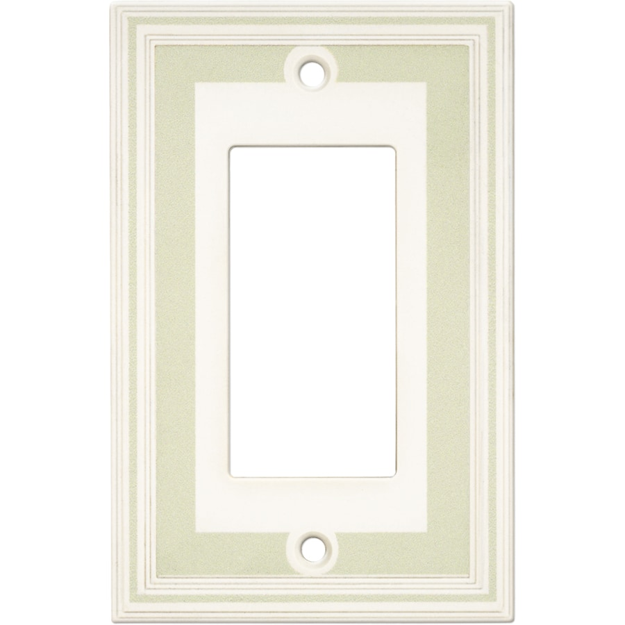 Somerset Collection Color Signatures 1-Gang Soft Sage Single Round Wall Plate