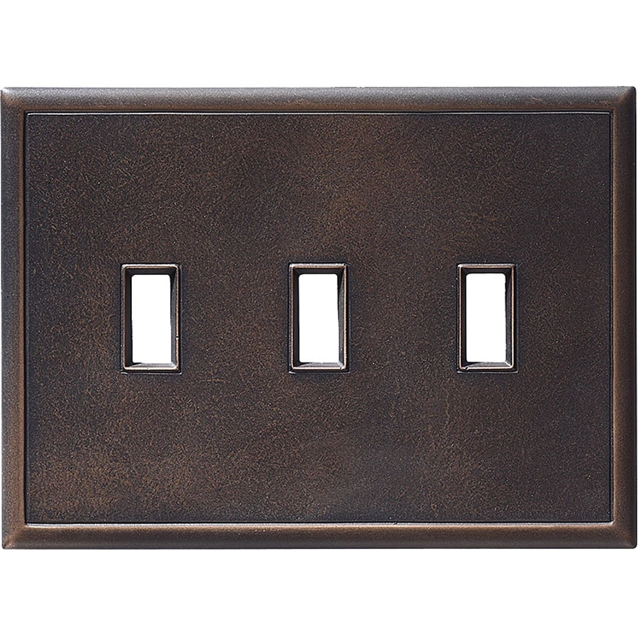 Somerset Collection Somerset 3-Gang Oil-Rub Bronze Toggle Wall Plate