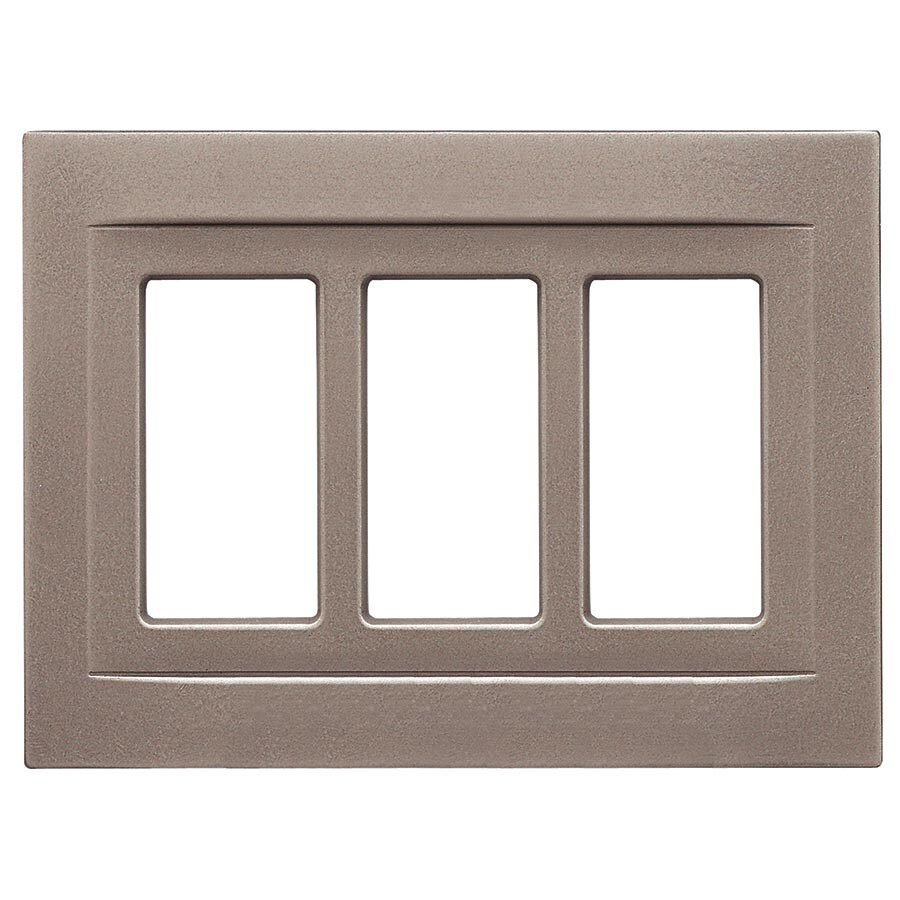Somerset Collection Contemporary 3-Gang Brushed Nickel Decorator Wall Plate