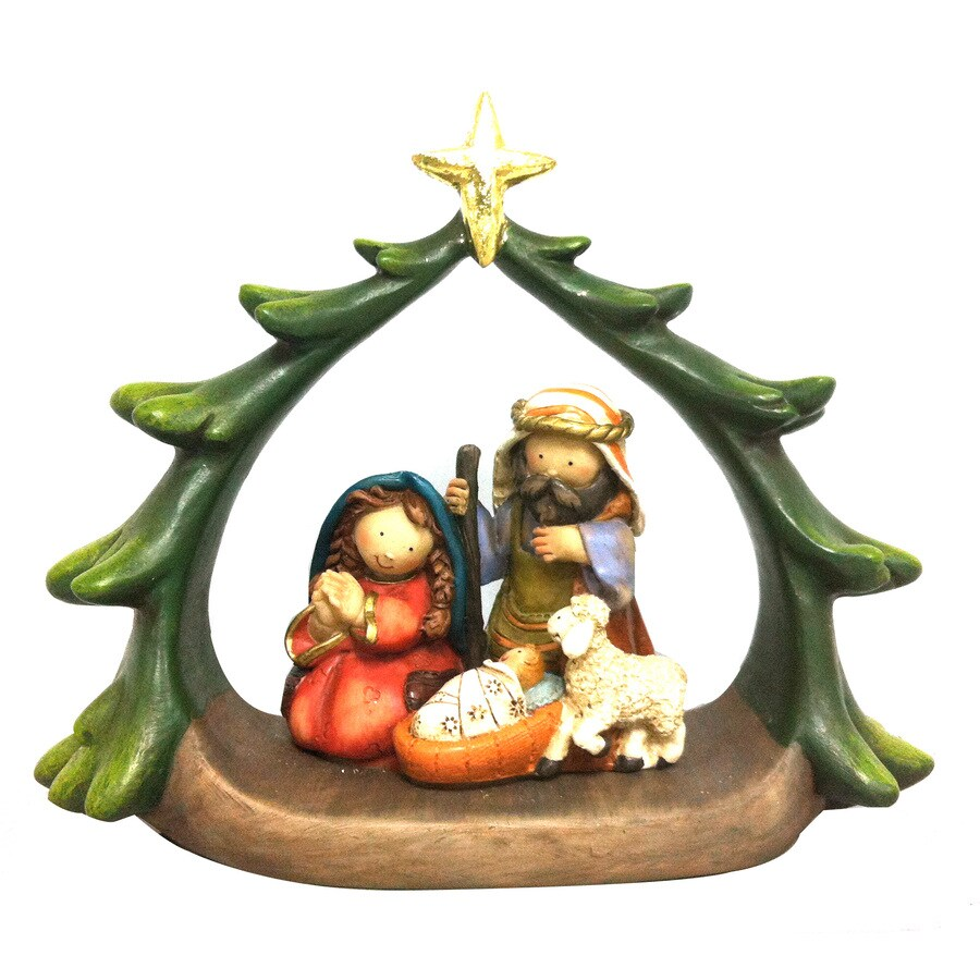 Holiday Living Multicolored Nativity Ornament