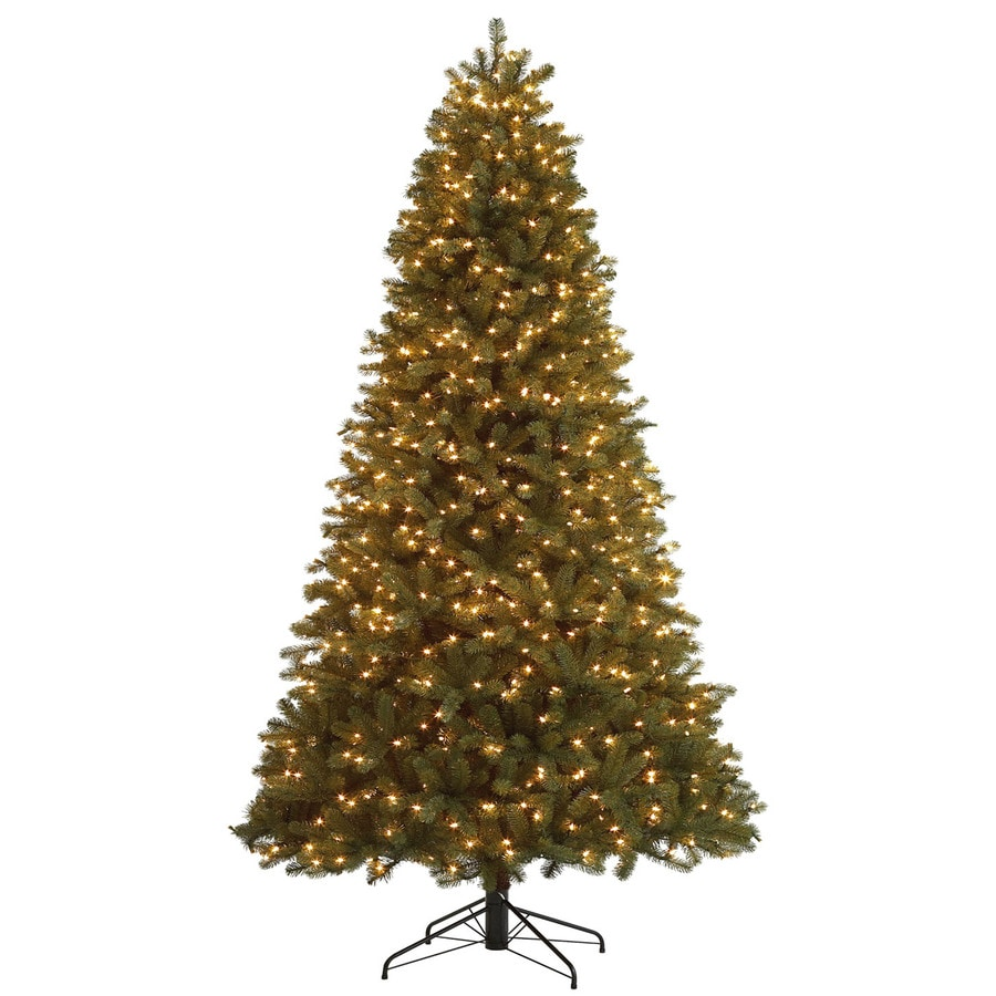 Holiday Living 9-ft Pre-Lit Fir Artificial Christmas Tree with White Lights