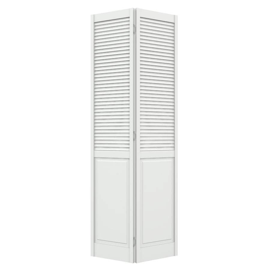 Shop jeld wen primed hollow core louver panel pine bi for 18 inch louvered door