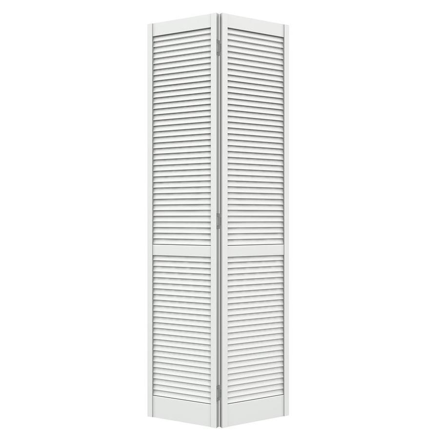 JELD-WEN Primed Full Louver Pine Bi-Fold Closet Interior Door (Common: 36-in x 80-in; Actual: 35.5-in x 79-in)