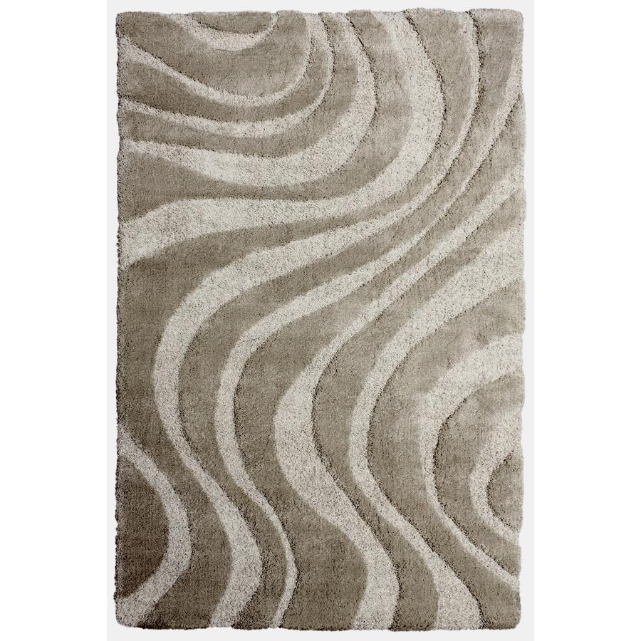 Carpet Art Deco Symetry Cream Rectangular Indoor Shag Area Rug (Common: 5 x 8; Actual: 63-in W x 89-in L x 0.3-ft Dia)