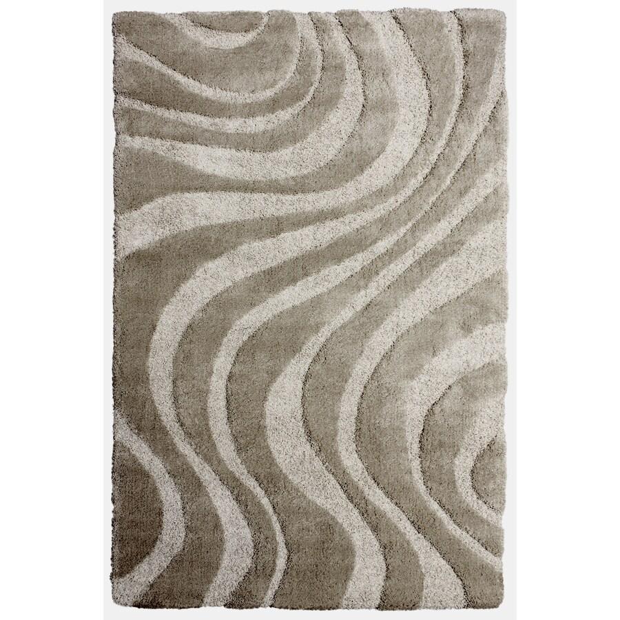 Carpet Art Deco Symetry Beige Rectangular Indoor Shag Area Rug (Common: 8 x 10; Actual: 92-in W x 124-in L x 0.3-ft Dia)