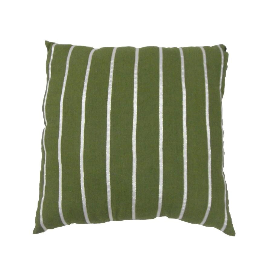 allen + roth Green Stripe Pillow