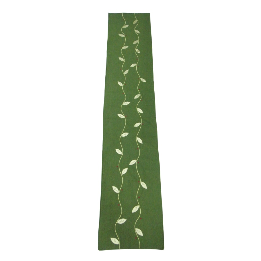 allen + roth Fabric Green Vine Table Runner Indoor Holiday Decoration