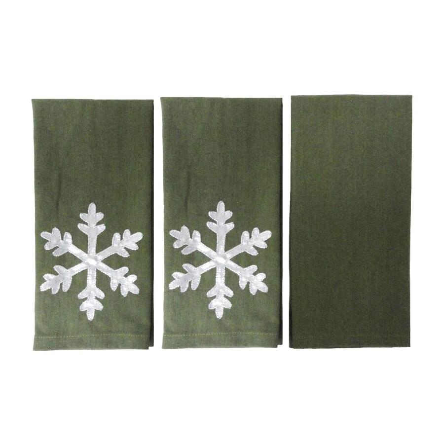 allen + roth 21-in x 14-in Green Cotton Fingertip Towel