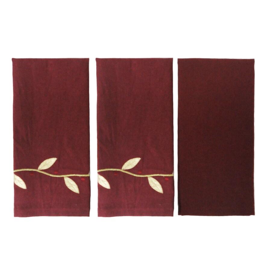 allen + roth 21-in x 14-in Red Cotton Fingertip Towel