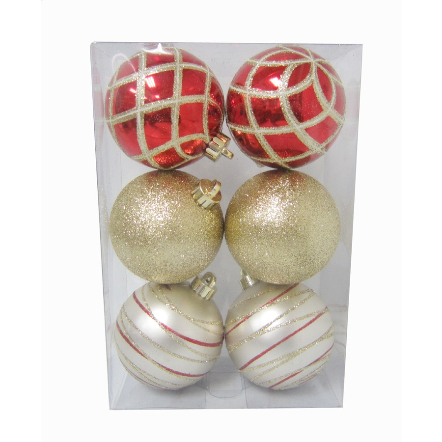 Holiday Living 6-Pack Gold Jumbo Ornament