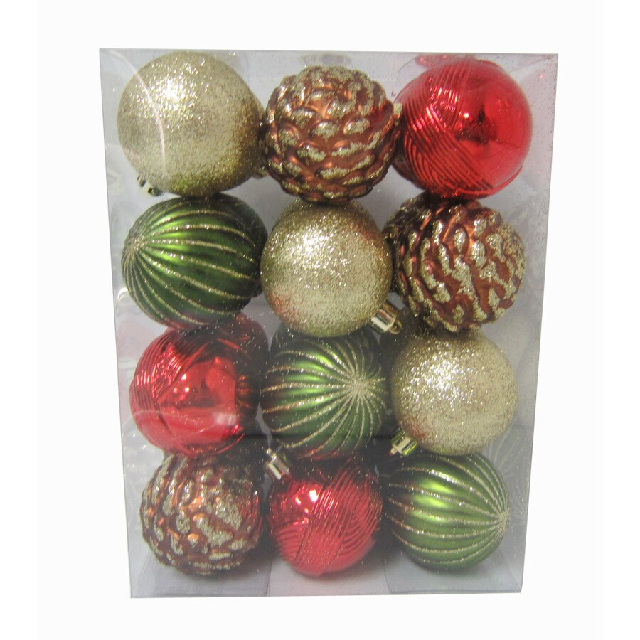Holiday Living 24-Pack Multicolored Ornament Set