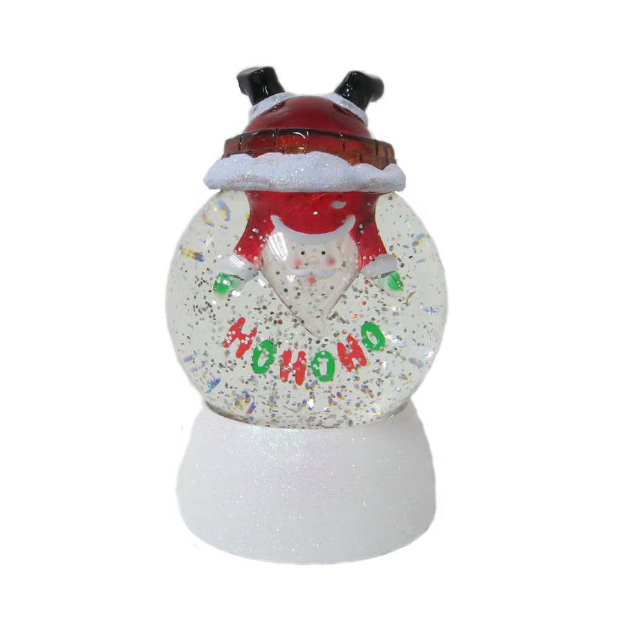 Holiday Living Pre-Lit Plastic Tabletop Snow Globe with Constant White LED Lights