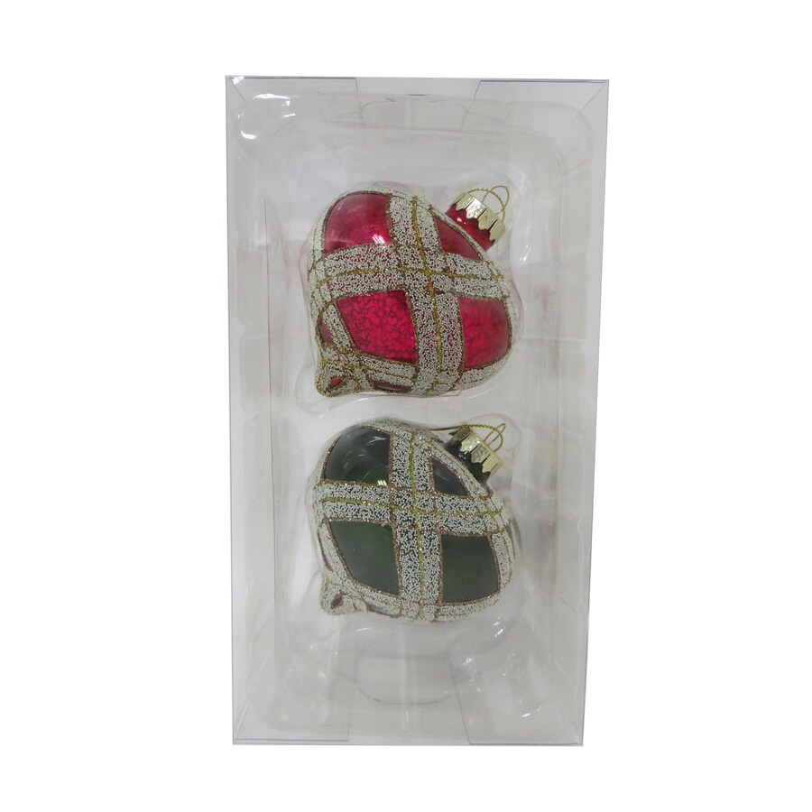 Holiday Living 2-Pack Red, Green, Gold Ball Ornament Set