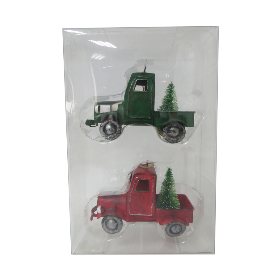 Holiday Living 2-Pack Red, Green Truck Ornament Set