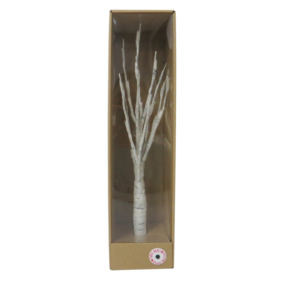 allen + roth Pre-Lit Wood Tabletop Tree with Constant White LED Lights