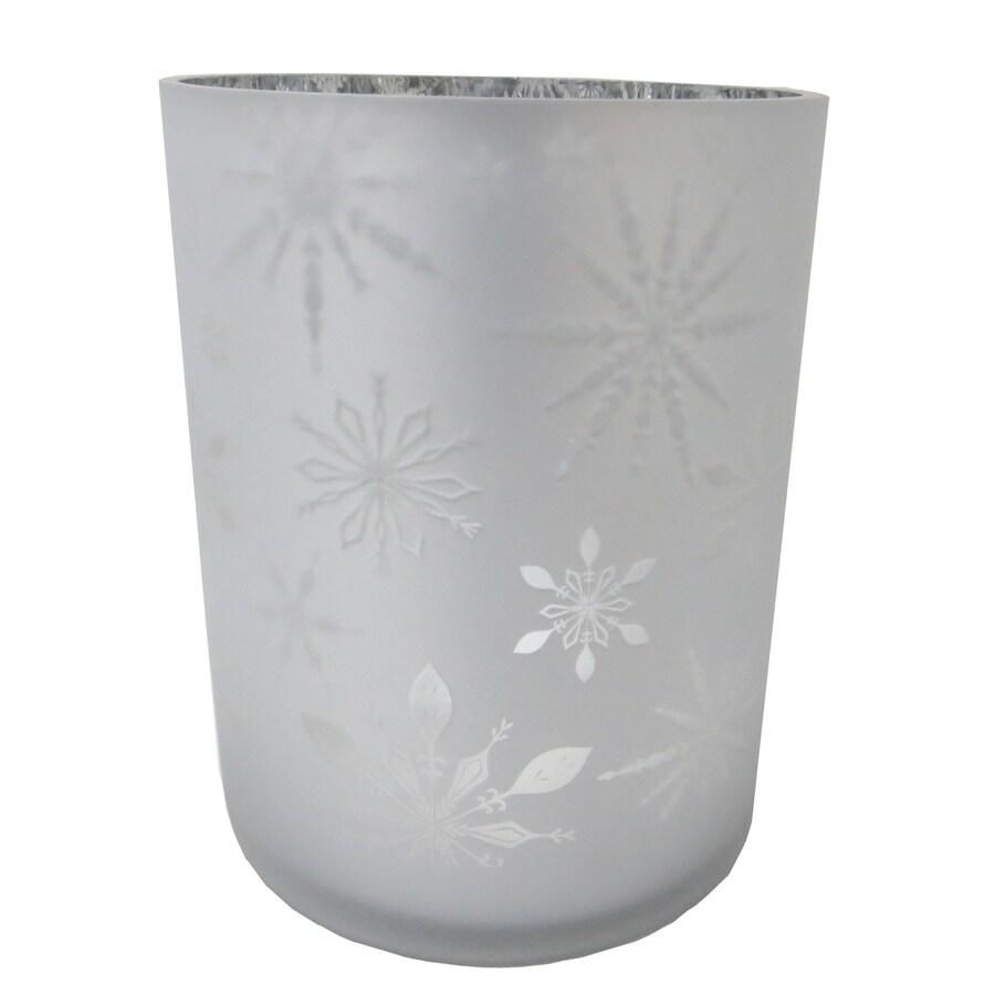allen + roth Glass Tabletop Hurricane Glass