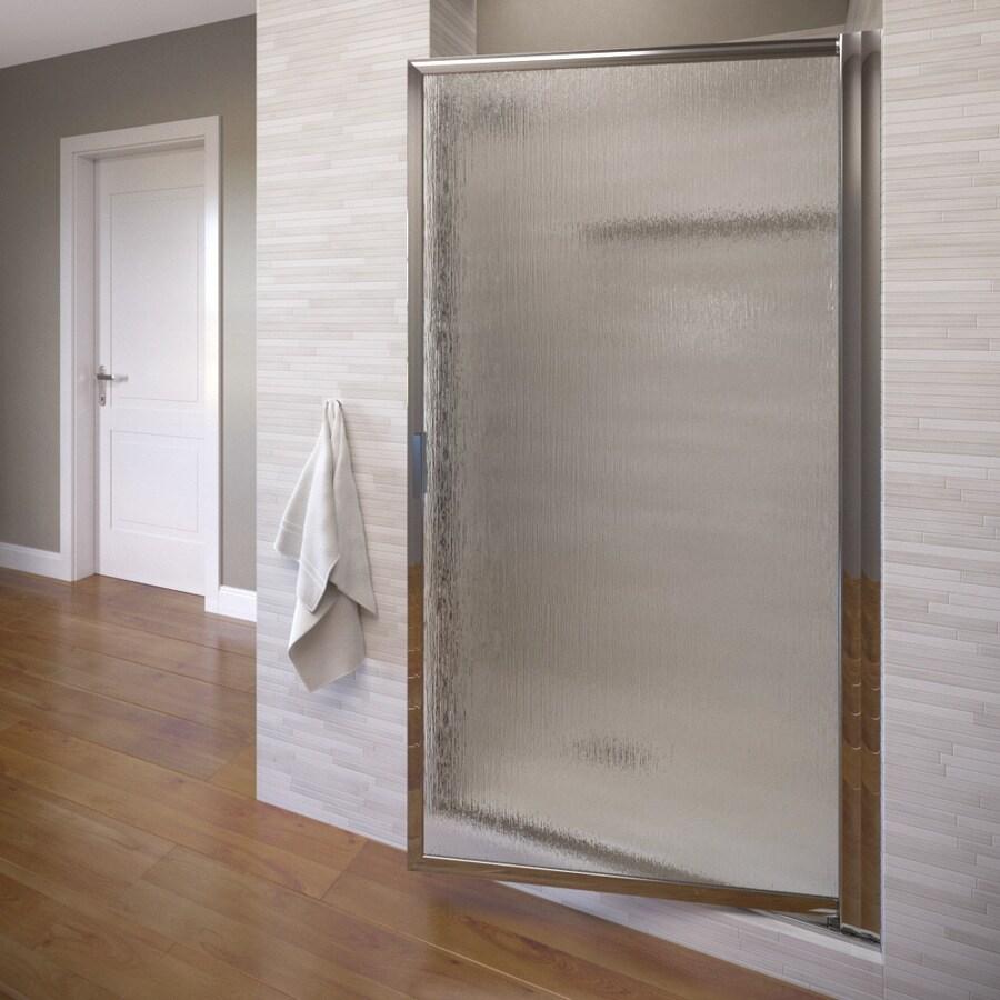 Basco Deluxe 25.75-in to 27.5-in Silver Pivot Shower Door