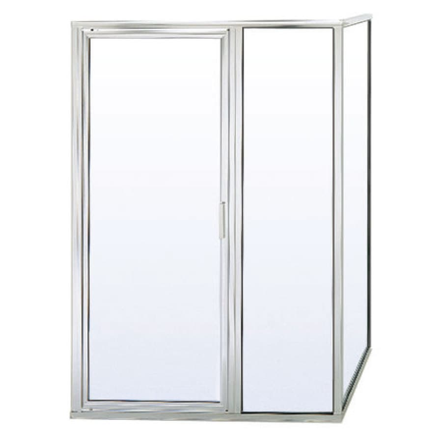 Shop Basco 24 In To 36 In Silver Pivot Shower Door At
