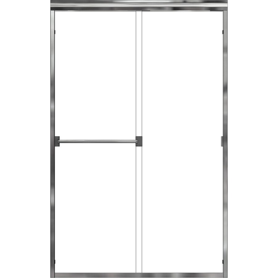Basco Classic 44-in to 47-in W x 70-in H Frameless Sliding Shower Door