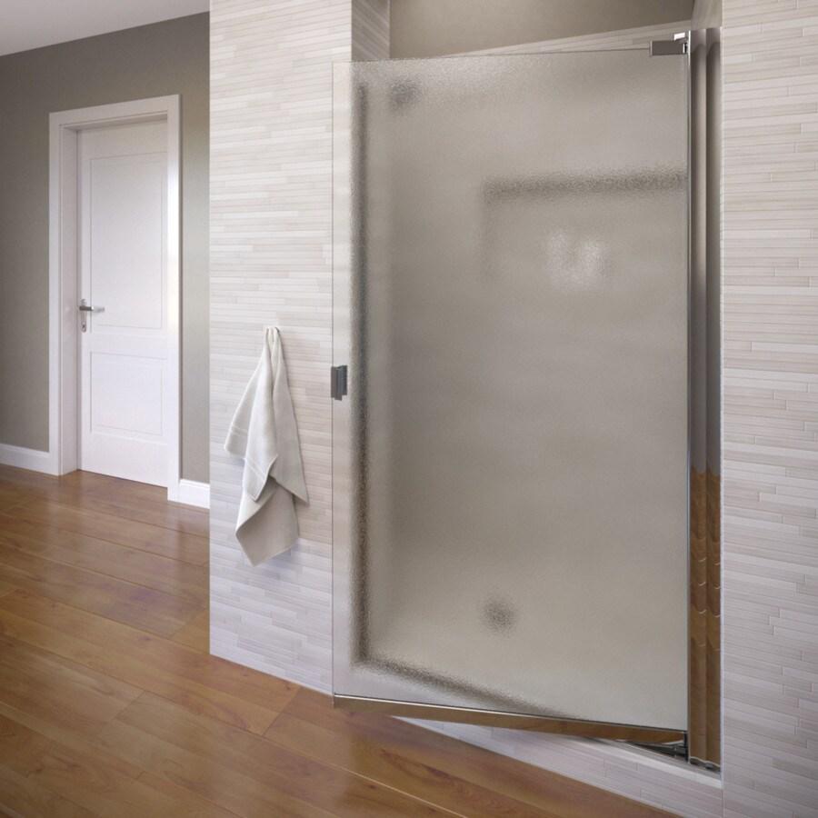 Basco 28.625-in to 30.125-in Frameless Pivot Shower Door