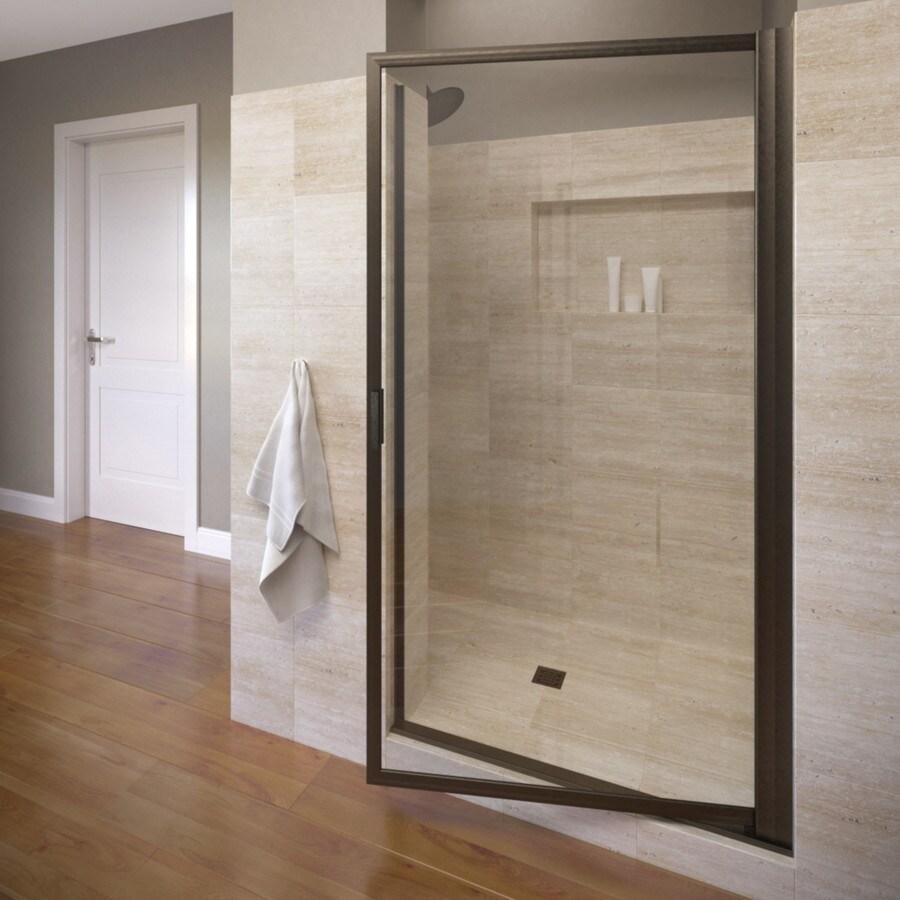 Basco Deluxe 26.25-in to 28-in Oil-Rubbed Bronze Pivot Shower Door