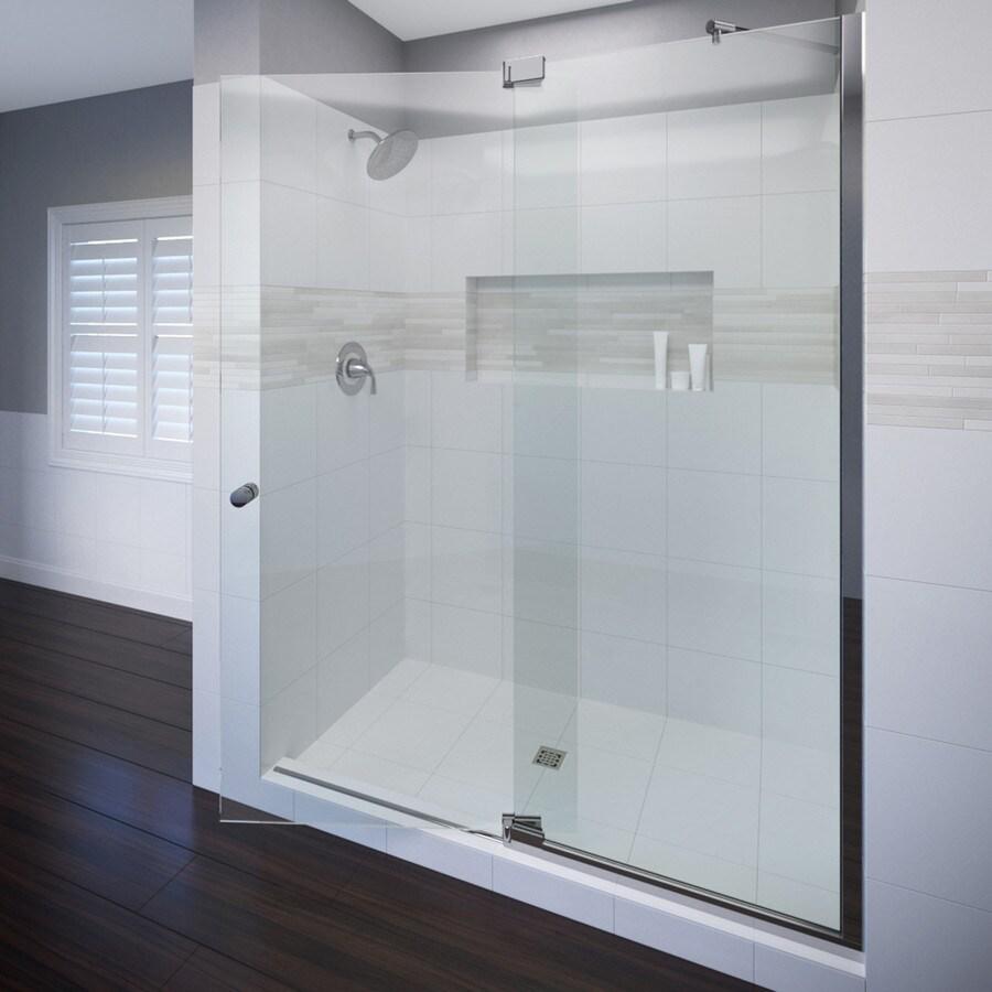 Basco Cantour 42.0125-in to 48-in Frameless Pivot Shower Door