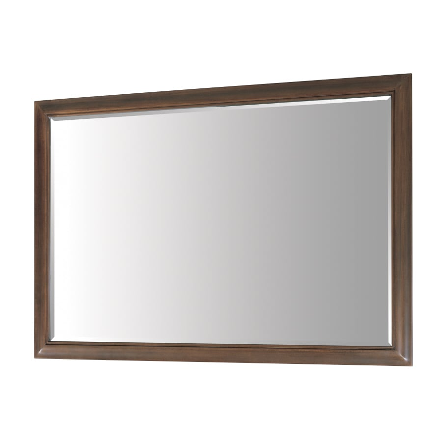 allen + roth 33-in H x 48-in W Fenella Sable Rectangular Bathroom Mirror